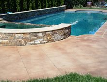 Pool Deck Staining Concrete Pool Decks DelGrosso Design Santa Rosa, CA  Concrete Pool Designs