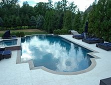 Stamped Concrete Around Pool Unique Concrete Pool Decks Pictures  Gallery  The Concrete Network