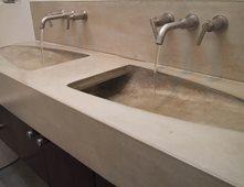 Ordinaire Modern, Double Sink Concrete Sinks Dewulf Concrete Santa Monica, CA