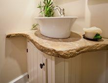 Veined Concrete Vanity, Rough Edge, Porcelain Sink Concrete Sinks Reformed  Concrete LLC Quarryville,