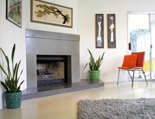 Modern Fireplace Surrounds fireplace surrounds pictures - gallery - the concrete network