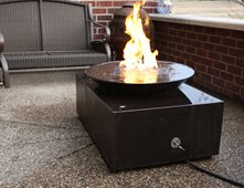 black concrete fire pit modern outdoor fire pits living stone concrete design candler