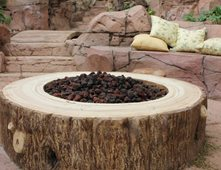 faux log gas fire pit outdoor fire pits matrix concrete artisans oceanside ca
