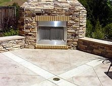 Outdoor Fireplaces Pictures Gallery The Concrete Network