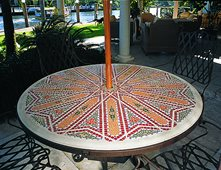 Mosaic, Patio Table Outdoor Furniture Art And Maison Inc. Miami, FL