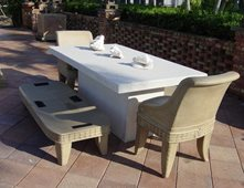 Wonderful White, Patio Furniture Outdoor Furniture Concrete  N  Counters Lutz, FL