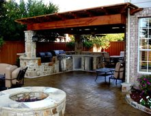 Garden Design With Outdoor Kitchens Pictures Gallery The Concrete Network With Landscaping Contractors From