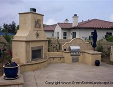 Outdoor kitchens pictures gallery the concrete network for Spanish style outdoor kitchen