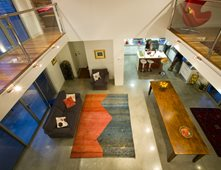 Brown Polished Floor Concrete Residential Stone