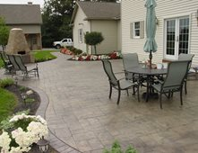 smokey beige stamped concrete cornerstone concrete designs orrville oh - Stamped Concrete Design Ideas