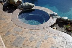 mid-range stamped concrete cost