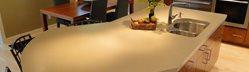 Seamless Island Counter Concrete Walkways Hard Topix Jenison, MI