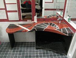 Concrete Sink, Concrete Counterto, Red Concrete Artistic Concrete JM Lifestyles Randolph, NJ