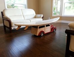 Concrete Surfboard, Coffee Table Artistic Concrete Mudd Studios Anaheim, CA