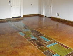 Multi Colored, Molted Artistic Concrete Floor Seasons Inc Las Vegas, NV