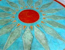 Vivid Colors, Texas Stained Concrete Artistic Concrete Applied Color Concrete Wimberley, TX
