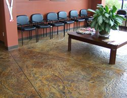 Brown Acid Stained Floor Brown Floors New Images Concrete Construction Lakeside, CA