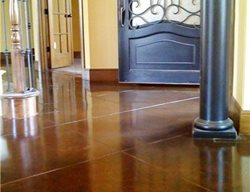 Brown, Entryway Brown Floors Concrete Studio Dallas, TX