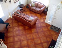 Leather, Terra Cotta Brown Floors Concrete911 Roseville, CA
