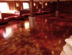 Steakhouse Floor, Leather, Stained Brown Floors Specialty Surfaces Sparta, NJ