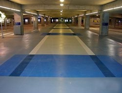 Blue, Walkway Commercial Floors Concrete Cosmetics Crowley, TX