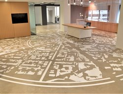 Office Floor, Stained Concrete Commercial Floors Hyde Concrete Pasadena, MD