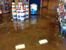 Pool Supply Store, Flooring Commercial Floors Decorative Concrete Inc Fort Worth, TX