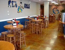 Terra Cotta Acid Stain, Restaurant Floor Commercial Floors Progressive Concrete Coatings Wilmington, NC
