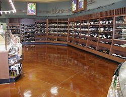 Whole Foods Stained Concrete Floor, Diamond Pattern Commercial Floors LA Concrete Works West Hills, CA