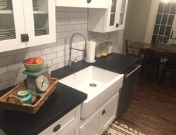 Black Countertop, Custom Countertop Concrete Countertops Price Concrete Studio Orlando, FL