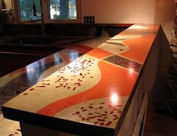 Countertop Inlays Concrete Countertops JM Lifestyles Randolph, NJ