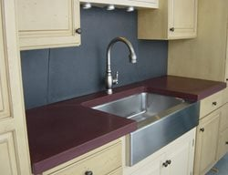 Deep Purple, Stainless Steel Concrete Countertops Two Stones Design Bettendorf, IA