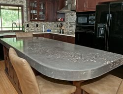 Kitchen Island, Embedded Aggregate Concrete Countertops M Concrete Studios LLC Dayton, OH