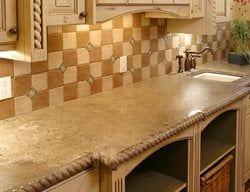 Rope Edge, Sand Concrete Countertops Stone Passion Salt Lake City, UT