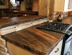 Rustic Countertop, Color Striations, Rough Edge Concrete Countertops SunWorks Decorative Concrete LLC Annville, PA