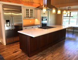 White Island, White Counter Concrete Countertops Liquid Stone Warminster, PA