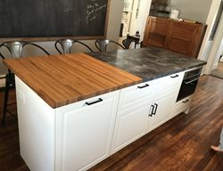 Wood And Concrete Countertop Concrete Countertops form2table Coraopolis, PA