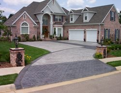 Brick And Concrete Driveway, Patterned Drive, Concrete Pattern Driveway Concrete Driveways Ozark Pattern Concrete, Inc. Lowell, AR