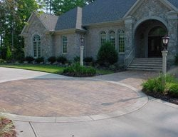 Brick, Circle Concrete Driveways QC Construction Products Madera, CA