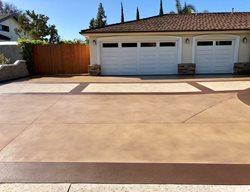 Colored Driveway, Custom Driveway, Decorative Driveway Concrete Driveways KB Concrete Staining Norco, CA