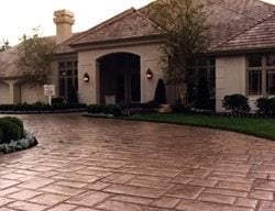 Driveway, Concrete, Stamped, Colored Concrete Driveways Worldwide Concrete Pasadena, MD