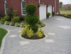 Entrance, Driveway Concrete Driveways Concrete Mystique Engraving Nashville, TN