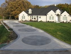 Grey Brick Concrete Driveways Concrete Illusions Inc Kankakee, IL