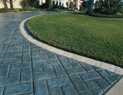 Herring Bone, Dark Grey Concrete Driveways Superstone Inc Opa-Locka, FL