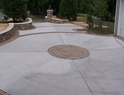 Stamped Center, Stamped Borders, Trees Concrete Driveways Woodland Concrete Construction, Inc. Leesburg, VA