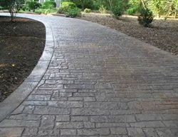 Stamped, Small Stone Concrete Driveways Split-Rok Construction Co Lakewood Township, NJ