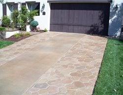 Tan Driveway Concrete Driveways Richardson's Concrete Effects Carmichael, CA
