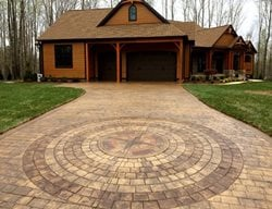 Woods, Cabin, Stamped Driveway, Brown Concrete Driveways Greystone Masonry Inc Stafford, VA