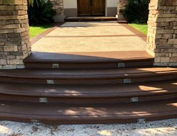 Front Entryway, Concrete Overlay Concrete Entryways KB Concrete Staining Norco, CA