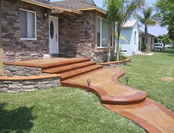 Pathway, Entrance Concrete Entryways Infinity Concrete Coatings Newport Beach, CA